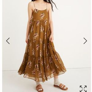 NWT Madewell Cami Tier Midi Dress Size 2